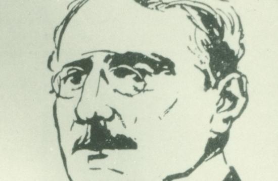 Antonín Sova naportrétu odAloise Moravce, 1912