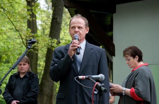 První projev: František Pinkas, starosta městyse Lukavec