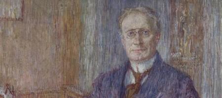Básník Antonín Sova na portrétu malíře Jana Vochoče (1914)