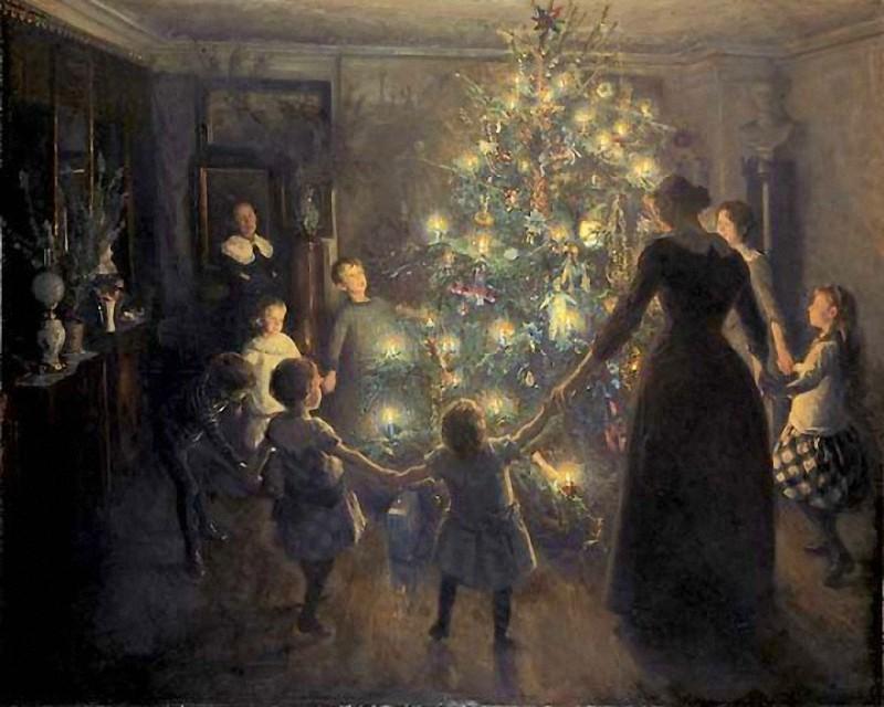 Viggo Johansen – Šťastné Vánoce, 1891, článek Vánoční básně