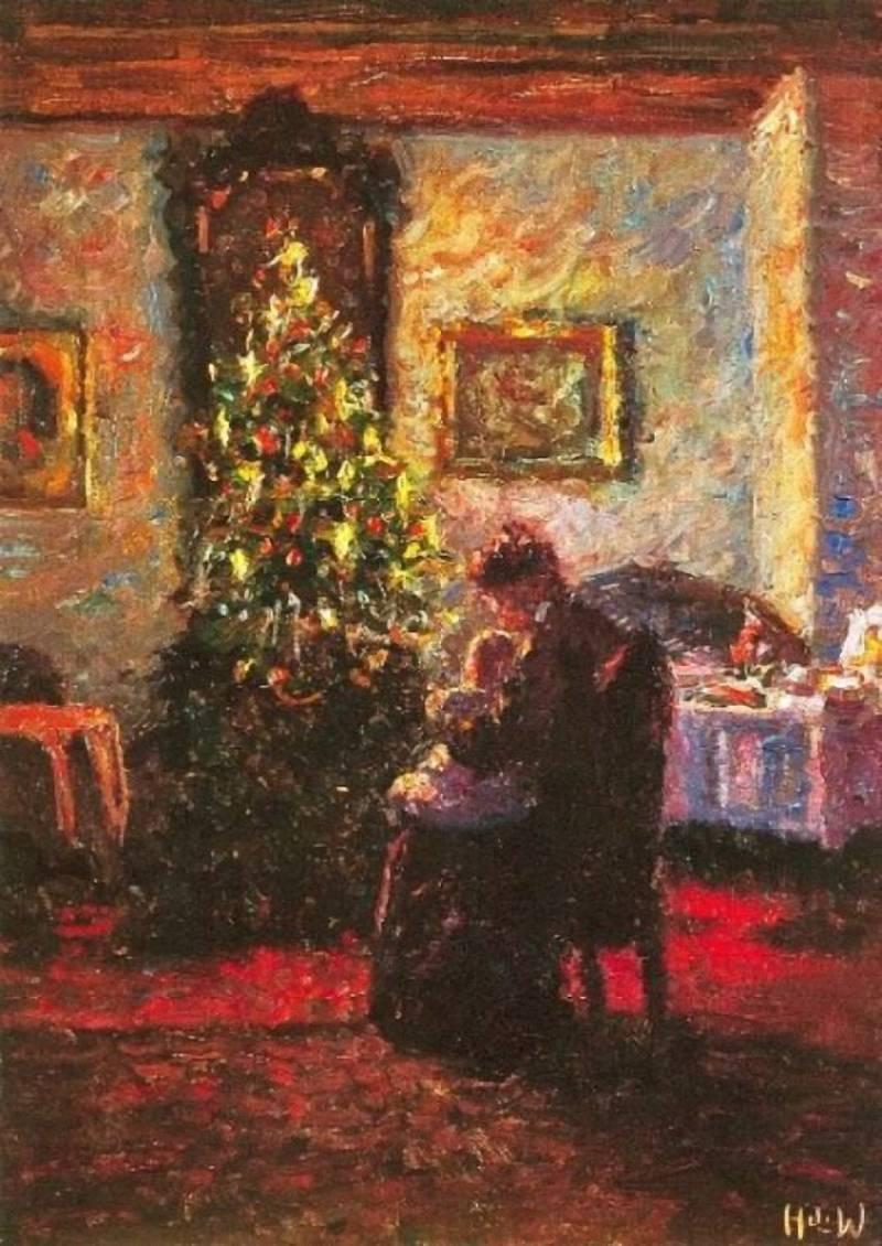 Heinrich Ferdinand Werner – Vánoční stromek, 1909, báně o Vánocích