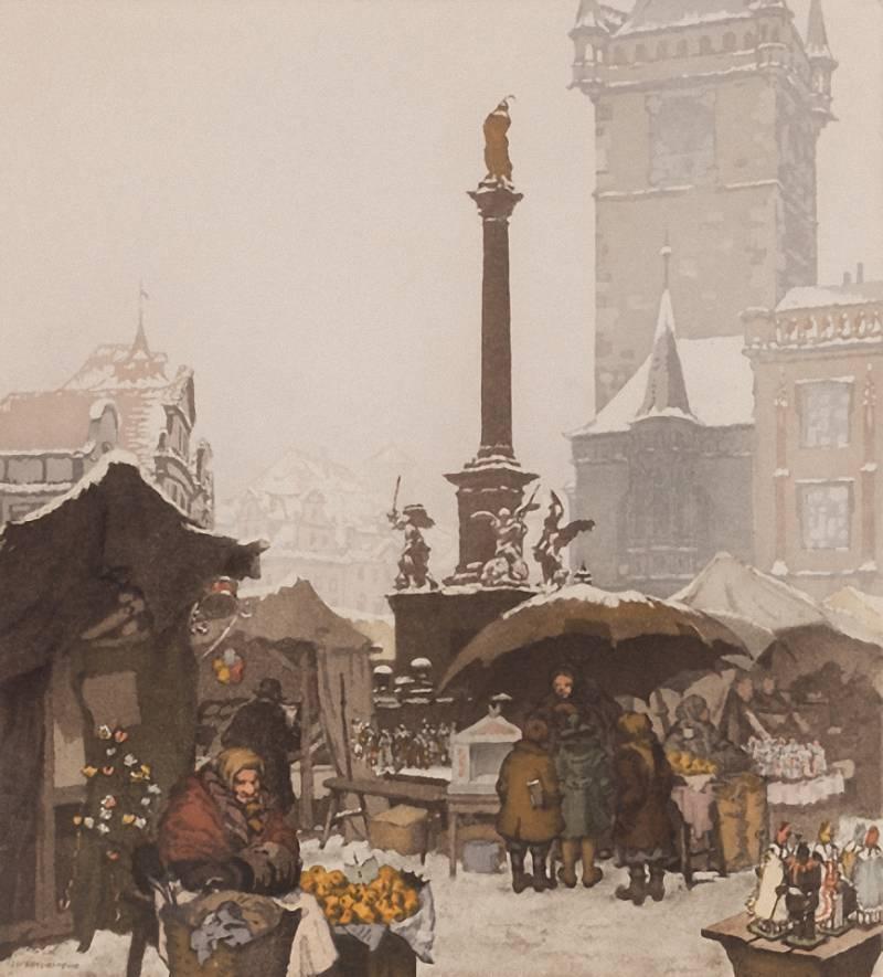 Jaromír Zamponi Stretti – Vánoční trh na Staroměstském náměstí, Vánoce básně