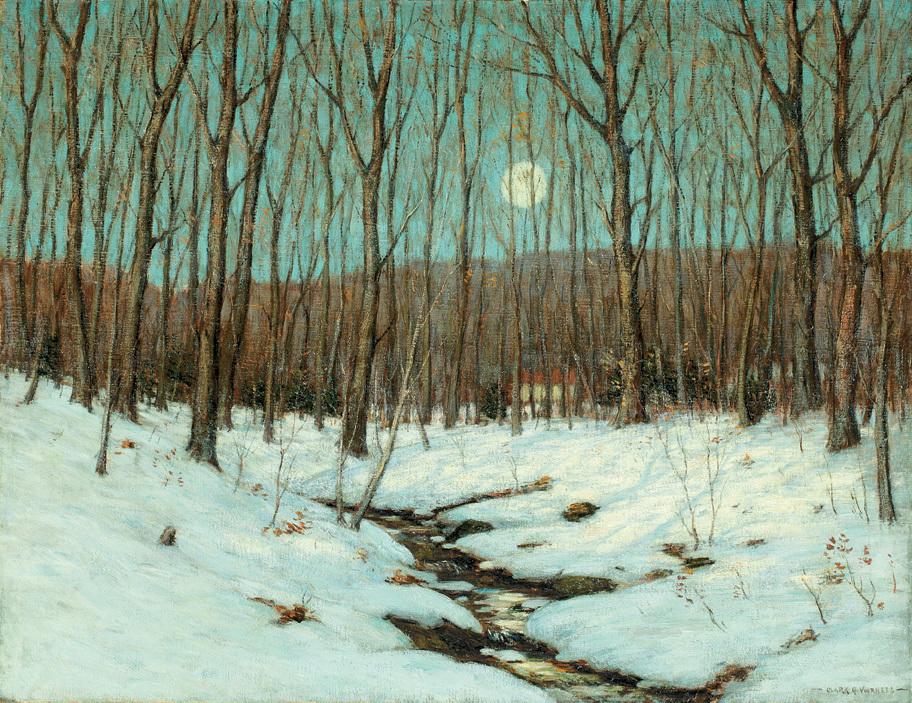 Zimní krajina s měsícem od Clarka Voorheese