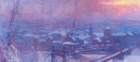 Obraz Jaroslava Šetelíka Praha z roku 1908